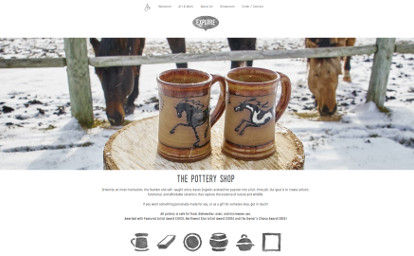 Black Horse Pottery website screenshot